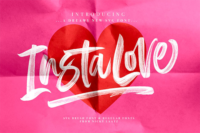 InstaLove SVG Font by Nicky Laatz