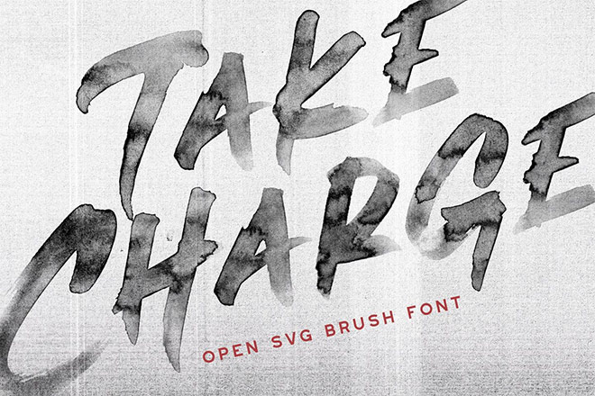 Take Charge - OpenType SVG Font by Greg Nicholls
