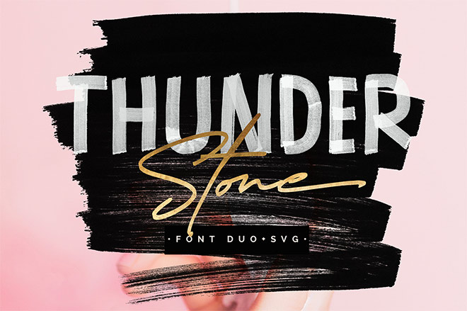 Thunder Stone Font Duo by Get Studio