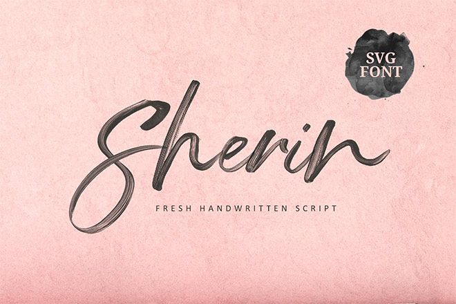 Sherin SVG Font by Get Studio