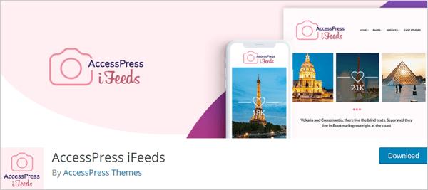 AccessPress iFeeds Instagram plugin for WordPress.