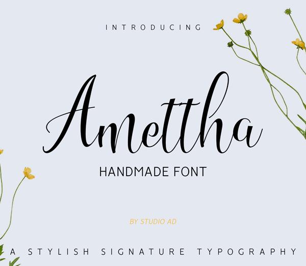 Amettha Free Font