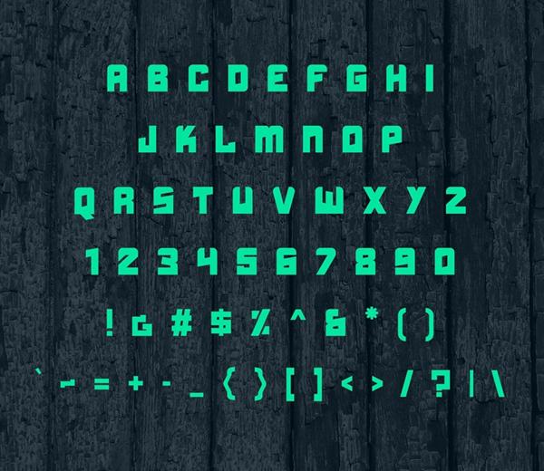 Boldhead Free Font Letters