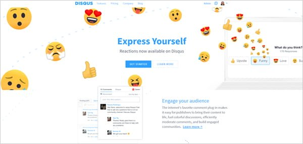 Disqus social commenting plugin for WordPress.