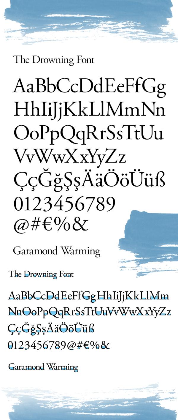 Garamond Warming Free Font Letters