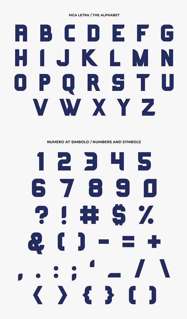 Kagitingan Free Font Letters