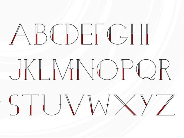Pauline Tattoo Free Font Letters