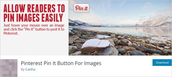 Pinterest Pin It Button For Images WordPress social sharing plugin.