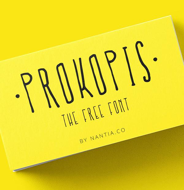 Prokopis Handmade Free Font
