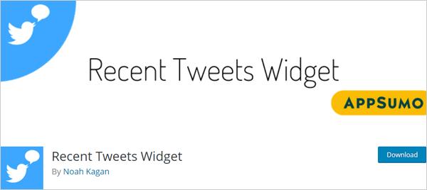 Recent Tweets Widget WordPress Twitter plugin