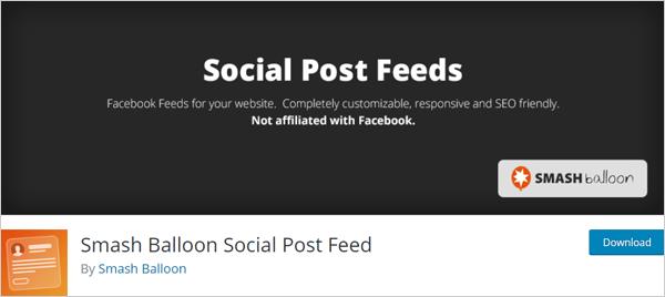 Smash Balloon Social Post Feed plugin for WordPress.