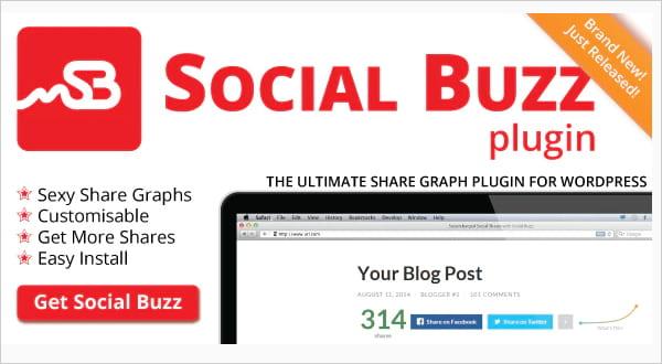 Social Buzz WordPress Plugin - Social Share Graphs