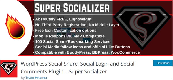 Super Socializer - WordPress Social Share, Social Login and Social Comments Plugin