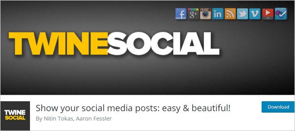 Twine Social WordPress plugin.