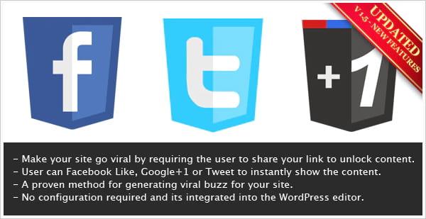 Viral Lock content locking plugin for WordPress.