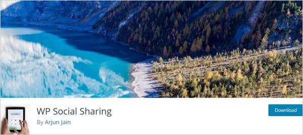 WP Social Sharing plugin.