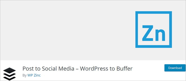 WordPress To Buffer - Post to social media plugin.