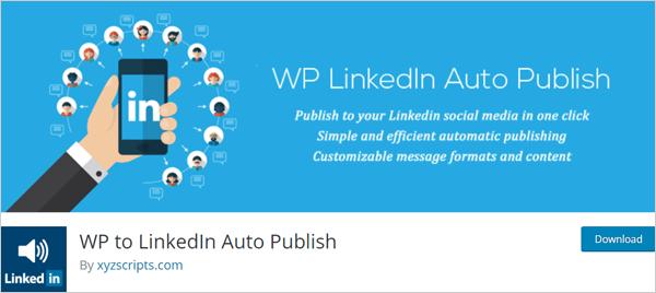 WP to LinkedIn Auto Publish plugin for WordPress.