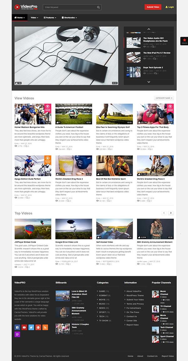 VideoPro - Video WordPress Theme