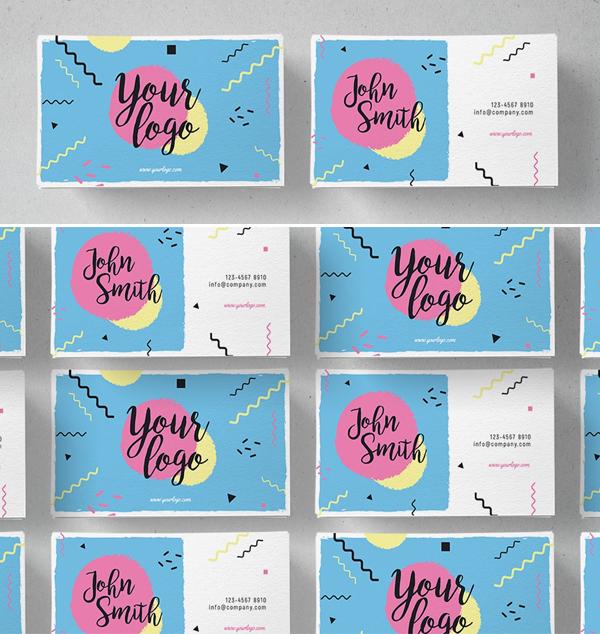 Memphis Business Card Template