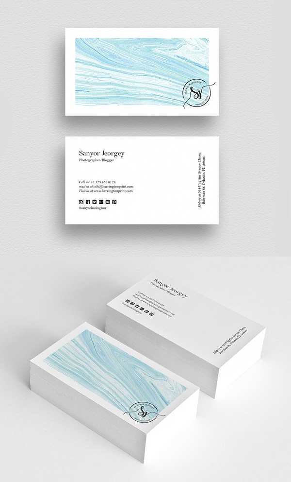 Minimal Creative Business Card Design
