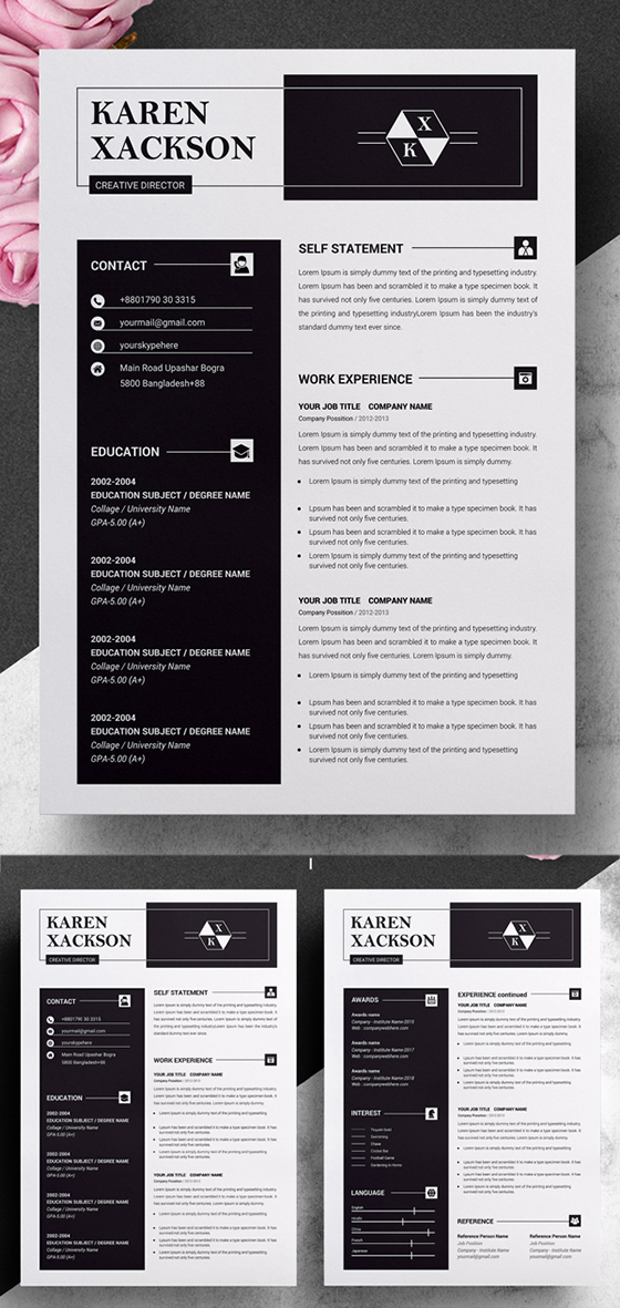 Minimalist Resume Template MS Word