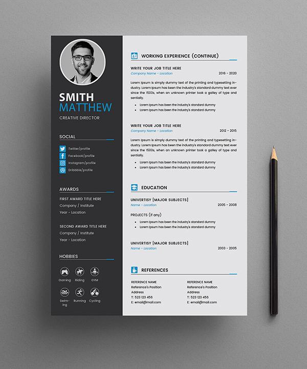 Free CV Resume Templates Page 2