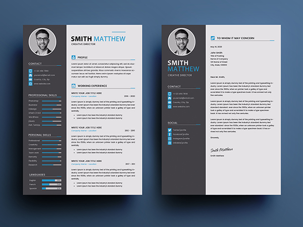 Free CV Resume Templates 2