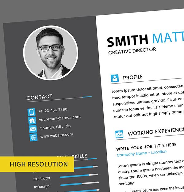 CV Resume Templates High Resolution