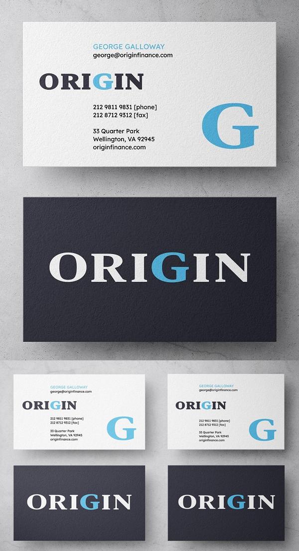 Origin Finance Business Card