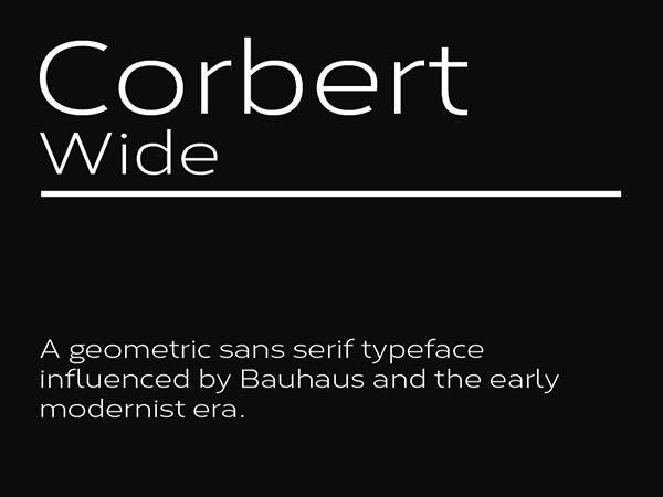 Corbert Wide Geometric Sans Serif Free Font