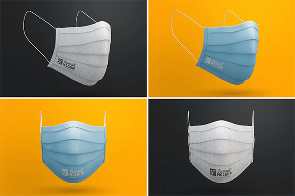 Elegant Medical Face Mask Mockup Templates