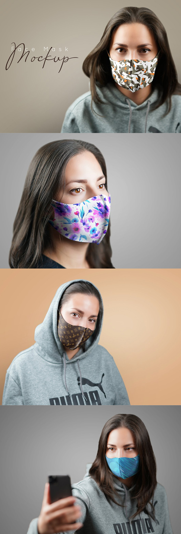 Best Creative Face Mask Mockup