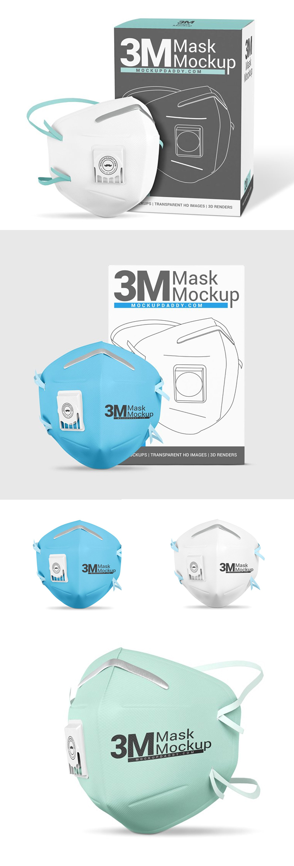 Medical Face Mask Mockup