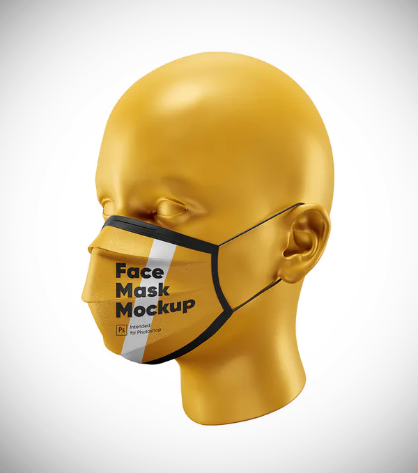 Awesome Face Mask Mockup