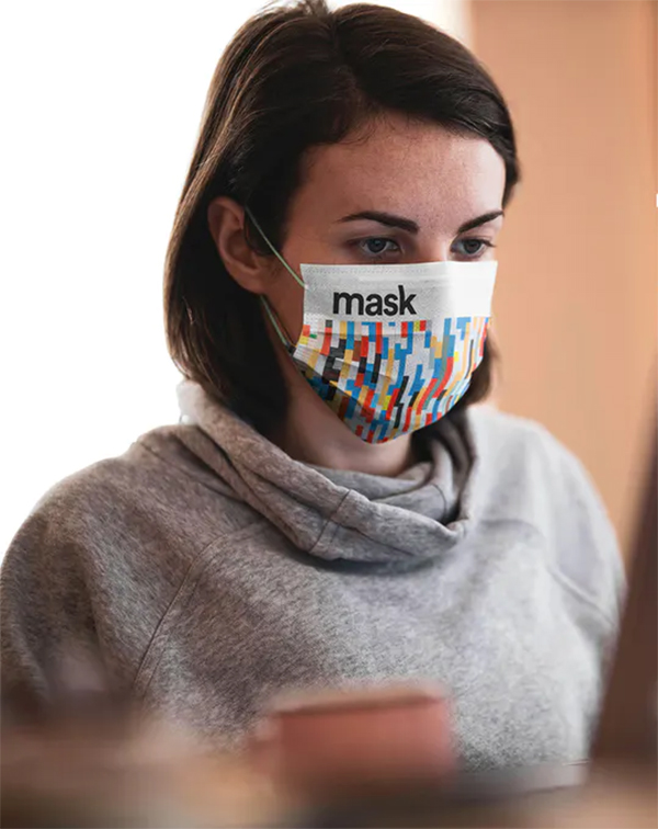 Medical Face Mask Mockup Template