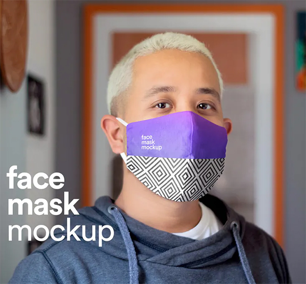 Elegant Face Mask Mock-up