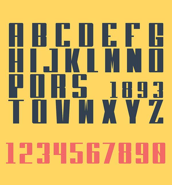 Heft Black Sans Serif Free Font Letters