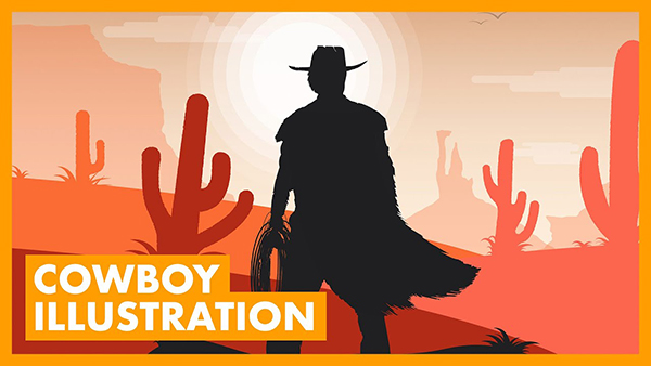 How to Create a Western Cowboy Illustration in Adobe Illustrator