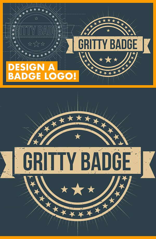 How to Create a Badge Logo in Illustrator CC Tutorial