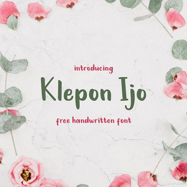Klepon Ijo Handwritten  Free Font