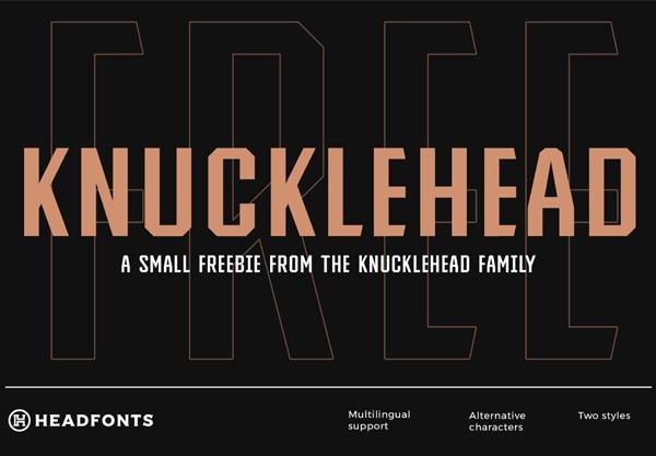 Knucklehead Vintage Free Font