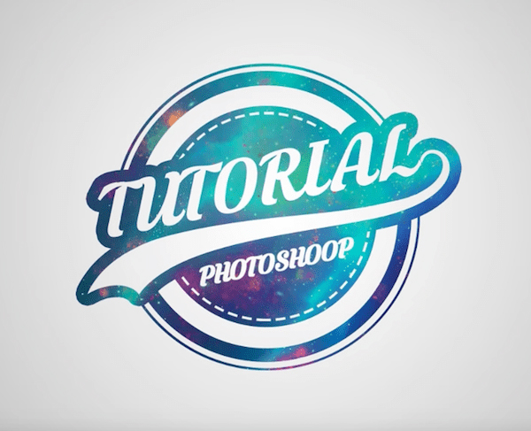 How to Draw Galaxy Logo Design in Photoshop Tutorial