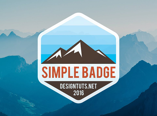 How to Design Simple Badge / Emblem Style Logo in Adobe Illustrator Tutorial