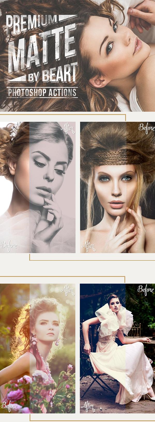 Matte Premium Photoshop Actions