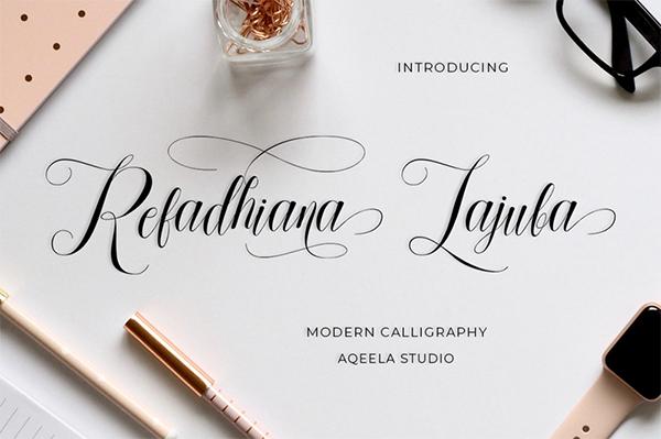Refadhiana Lajuba Script Free Font