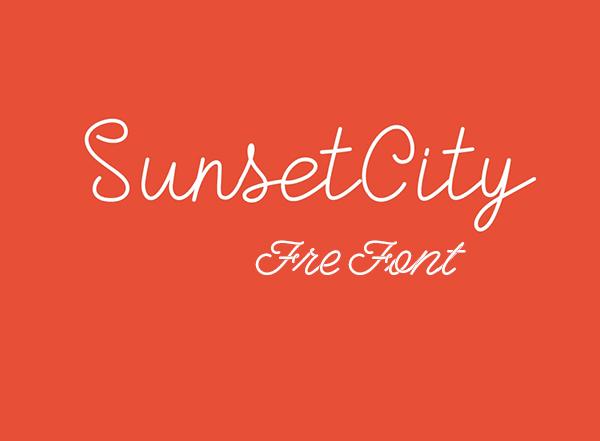 Sunset City Monoline Script Free Font