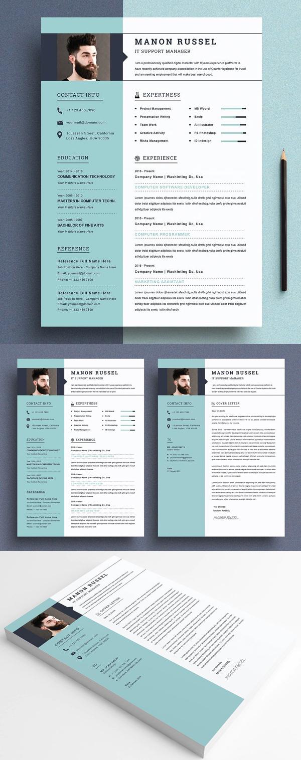 Elegant Modern Resume Template / CV