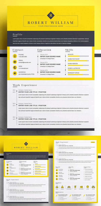 Modern Resume Template   Minimal CV