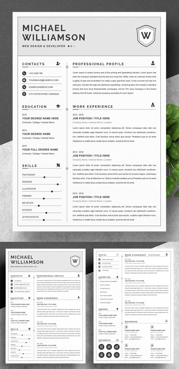 Resume Resume   Clean & Professional